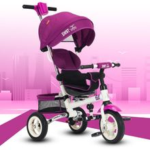Children tricycle child bicycle inflatable wheels 1-3-5 year old baby trolley bicycle stroller