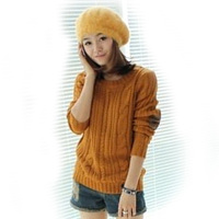 Cable Knit Braided Elbow Patch Women S Cozy Pullover Sweater Jumper Knitwear Top