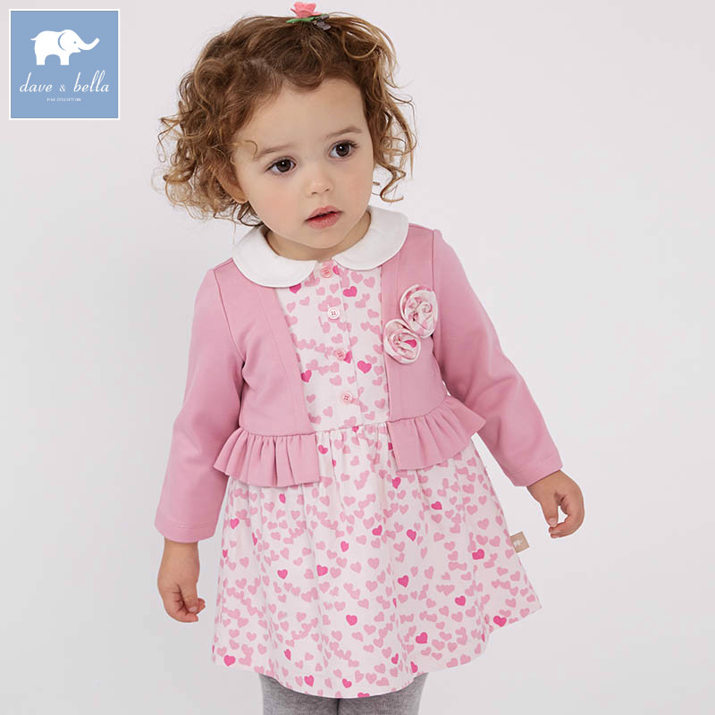 DBM7303 dave bella spring infant baby girl's fashion dress floral birthday party dress kids toddler children clothes db4079 dave bella spring infant baby girl s fashion pink dress kids birthday wedding party dress toddler children clothes