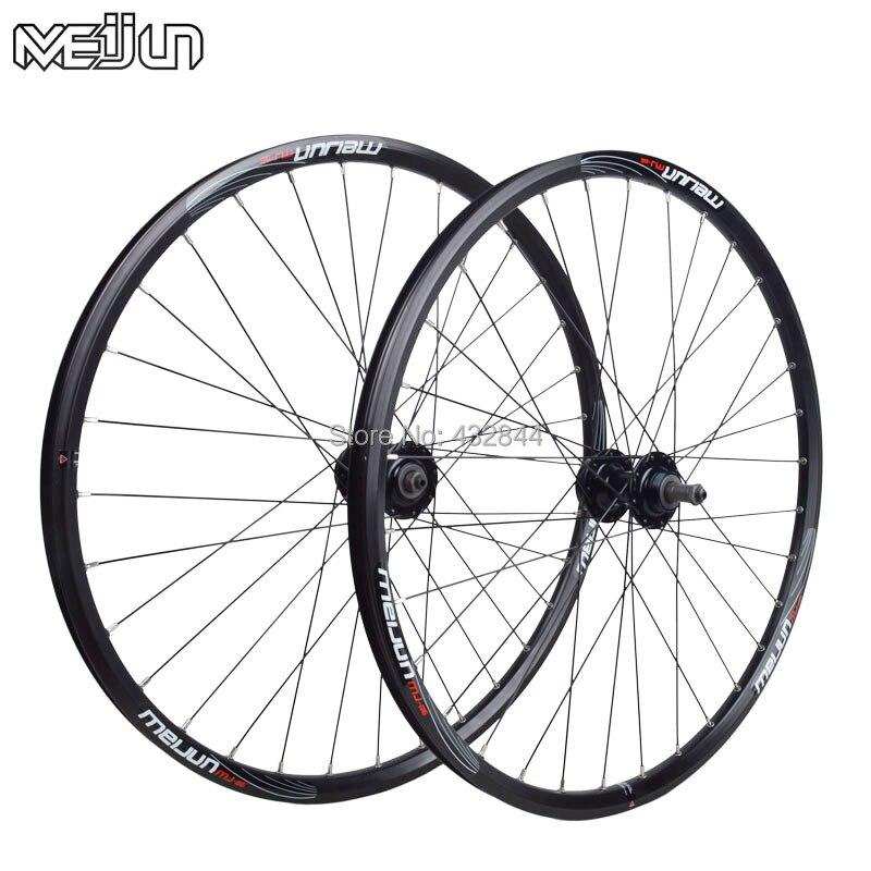 20inch 406 26 인치 meijun 스레드 플라이휠 wheelset 7 속도 21 속도 annuler 산악 자전거 바퀴 림에 적합