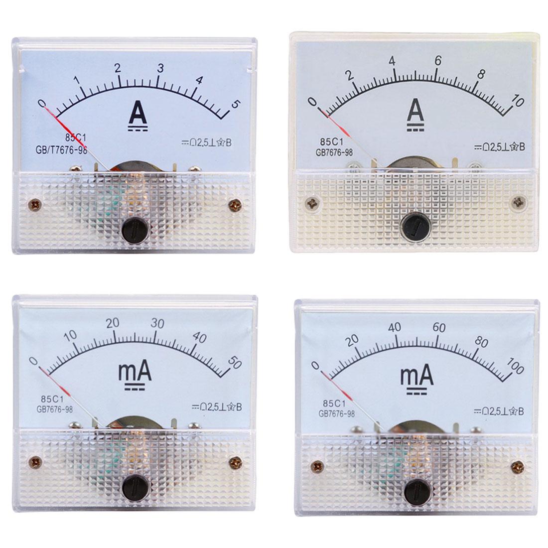 1 шт Аналоговый Панель измерителя тока 5A 10A 15A 20A 30A 50A 100A Датчик DC указатель текущее механические амперметры измерительный инструмент