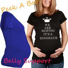 European American Plus Size Creative Women Apparel Summer font b Maternity b font T Shirt Crown
