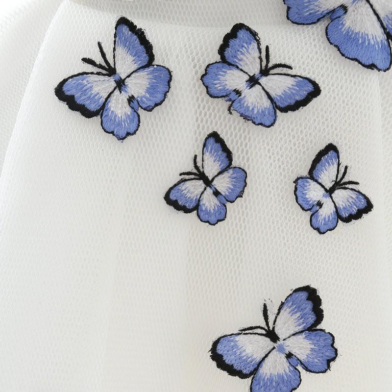 Lamya 2017 White Embroidery Butterfly V Neck Short ALine Prom Dresses Cheap Elegant Prom Dress Vestido De Festa In Stock EV2978 (9)