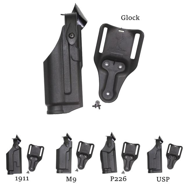 Safariland Quick Release Gun Case Tactical Belt Holster for GL 17 19 on aw gun, mm gun, gm gun, dd gun, tt gun, mr gun, sg gun, sk gun,
