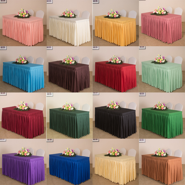 Custom Hotel Office Conference Table Skirt Exhibition Cloth Strip Sign Cover Set