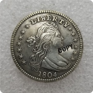 USA 1804,1805,1806,1807 Draped Bust Quarters Copy Coin commemorative coins-replica coins medal coins collectibles(China)