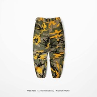 Aolamegs Men S Cargo Pants Colored Camouflage Fashion Hip Hop Dancing Pants Military Street Style High