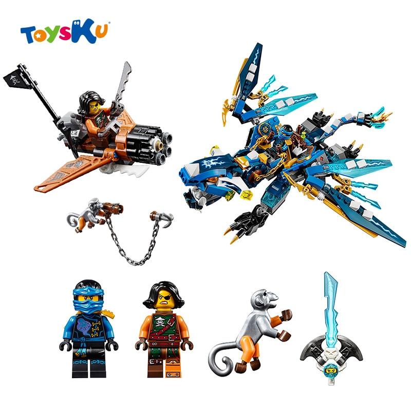 06027 Jays Elemental Dragon Ninja Building Blocks kits Minifigures Toys for Children Christmas Gifts