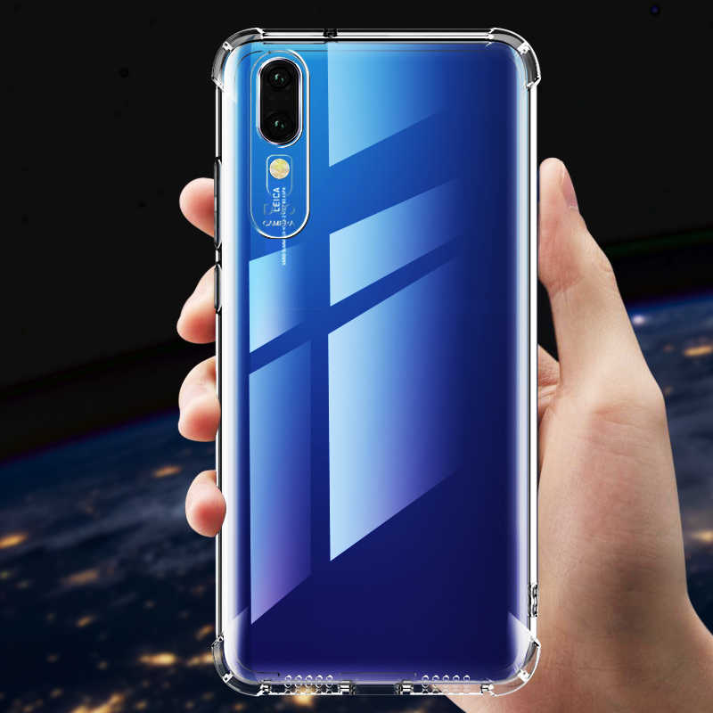BoomBoos TOP quality Air bag anti-knock case for Huawei P10 / P10 plus / P20 / P30 pro / P20 lite crystal clear TPU cover