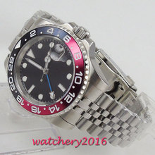 Parnis 40mm Mechanical Watches GMT Sapphire Crystal Man Watch Diver Automatic relogio masculino Role Luxury Men