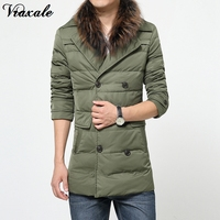 Vraxale Winter New Men S Jacket Coat Suit Collar Winter Jacket Double Breasted Men S Warm