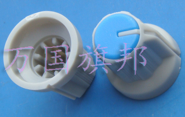 Free Delivery.Environmentally friendly plastic potentiometer knob high 16 mm 15 mm in diam.