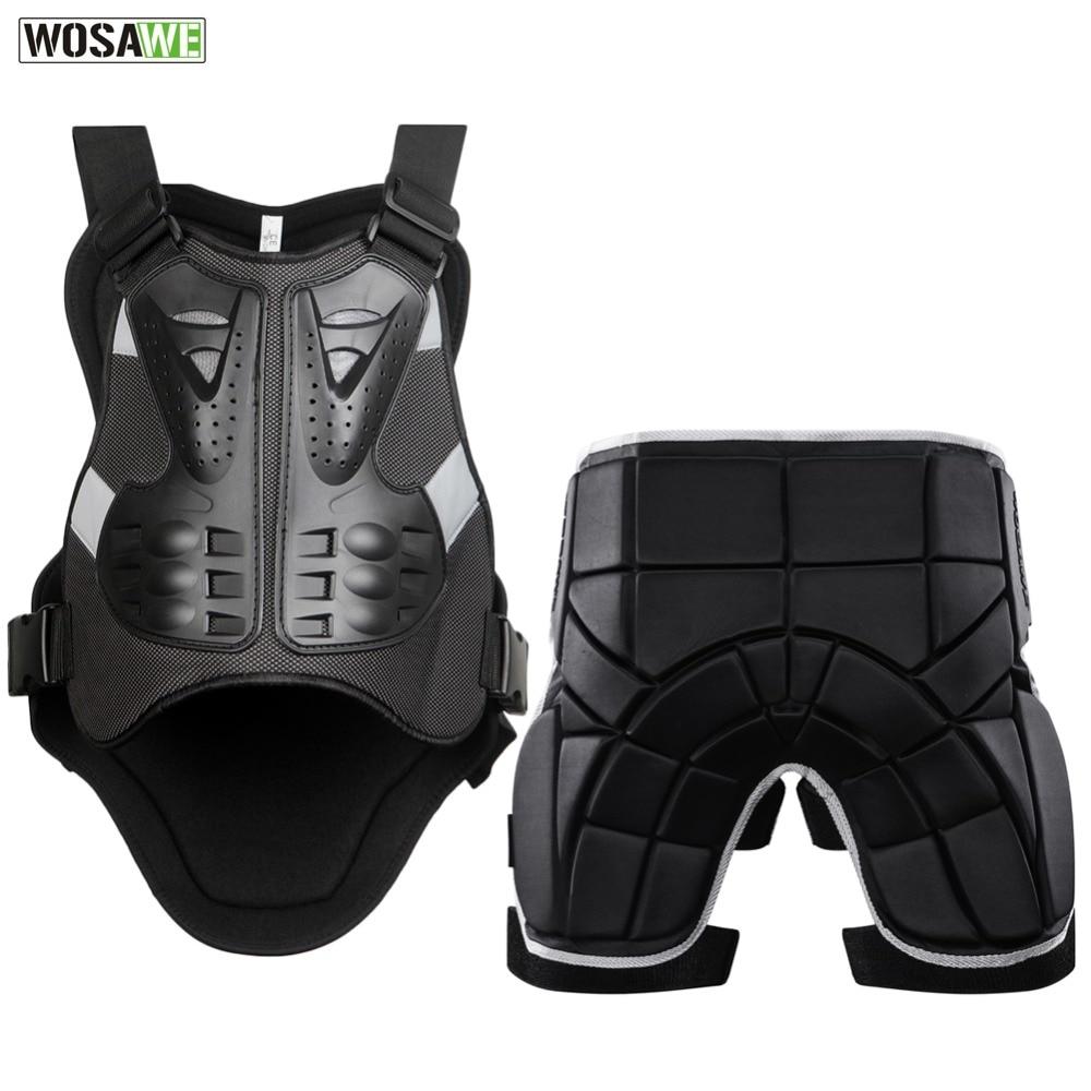 WOSAWE Motorcycle Jacket Body Protector+Shorts Pants Motocross Racing Body Armor Moto Protective Gear Skateboard Safety Guard