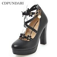 6209e06a39 Ankle Strap Platform High Heel Baixo preço