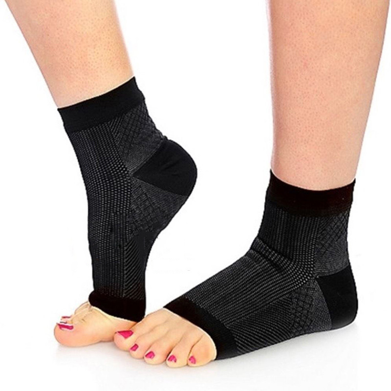 Soft New Fashion Unisex 1 Pair Compression Warm Open Toe Nylon Tight Casual Socks Recovery Socks  Protect Arthritis Heel Socks
