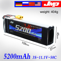 2pcs 5200mAh 3S 50C JMP Lipo Battery Lipo 11.1V 50C for 1/10 Car 1/8 RC Car for Traxxas TR 4 E REVO XO 1 SLASH 1/7 UNLIMITED