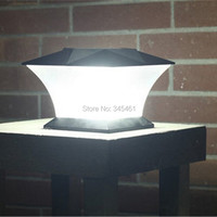 2XUltra Bright 7 Solar Post cap Light with18pcs leds Solar Pillar Light Fence Mount Outdoor Solar Garden Fence Lamp