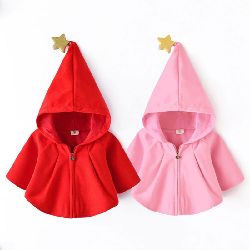 2018 Spring Hooded Jacket for Newborn Baby Girl Cotton Clothing Fashion Outerwear Toddler Girls Coats Cute Infant Babies Cloth