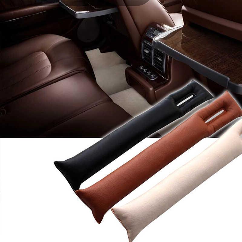 EAFC gris negro Beige marrón cojín del asiento de coche grieta tapón de brecha de la PU de cuero protector a prueba de fugas cubierta de asiento de coche Pad