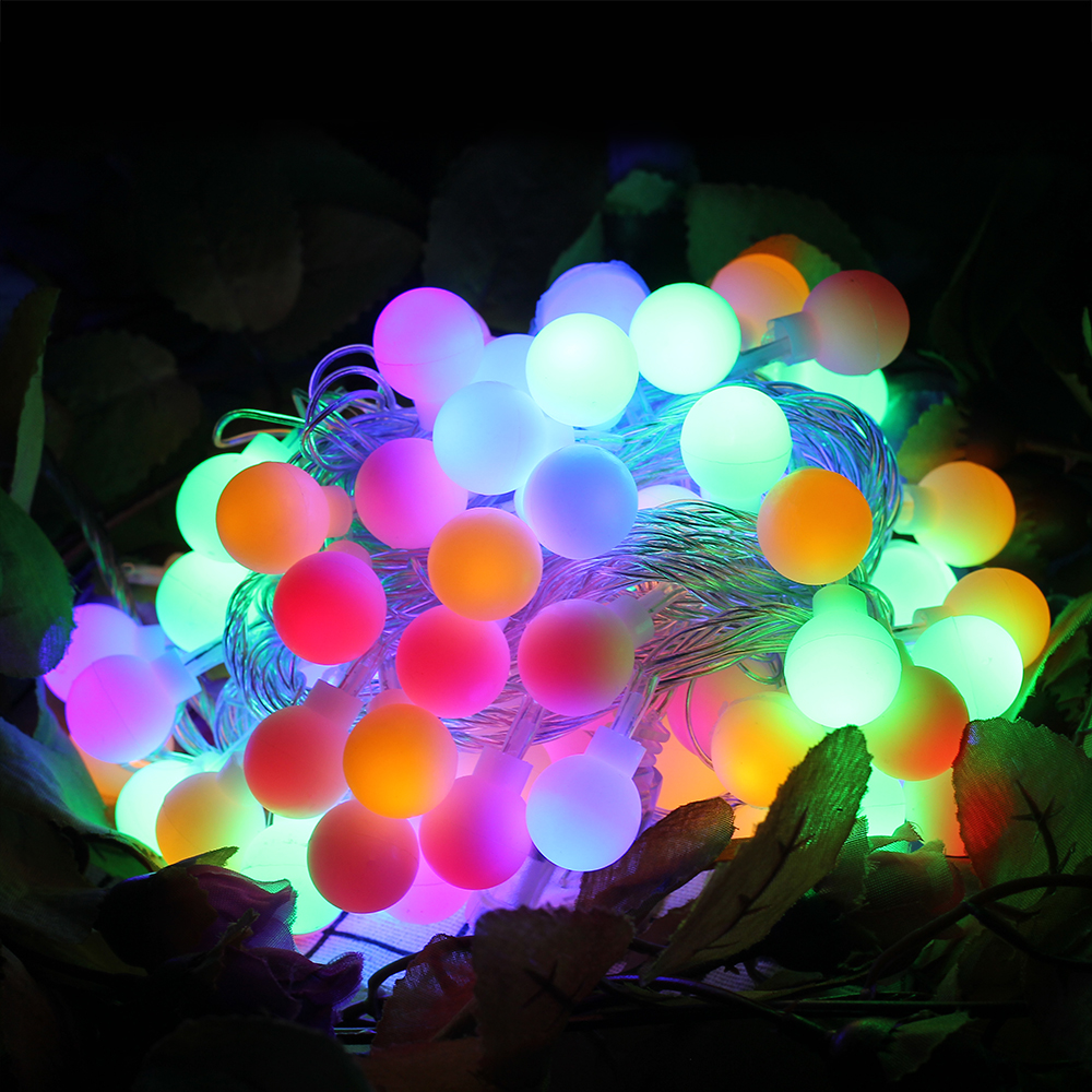 220V 10M 100LED Ball Fairy String Light IP44 for Home Garden Party Wedding Holiday Christmas decoration Garland Light EU Plug|10m 100led|string lights 10m|string ball lights -