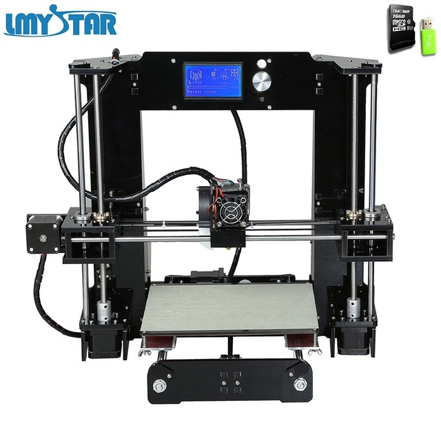 LMYSTAR 3D Printer with 10m Filament Full Acrylic Frame Large Printing Size Reprap 3D Printer DIY Make Toy with Tools SD Card