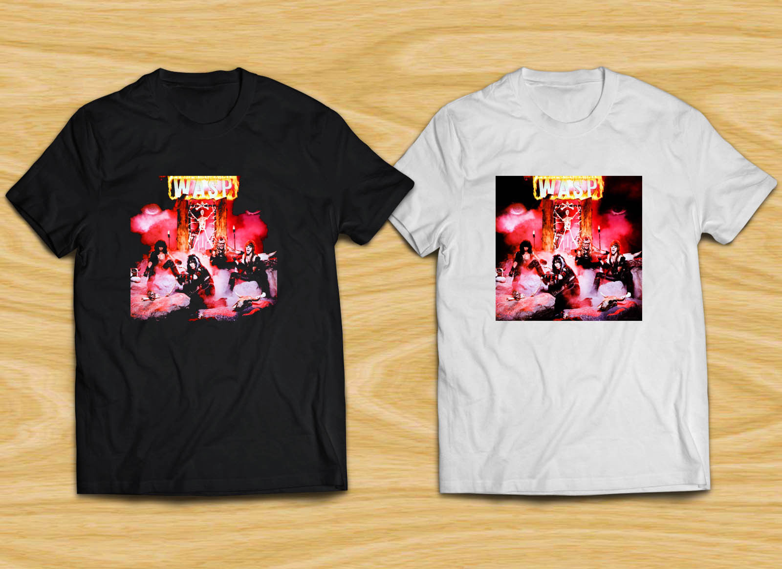 WASP W.A.S.P. Metal Rock Band Legend logo Mens Black White T-Shirt Summer Style Men T Shirt top tee