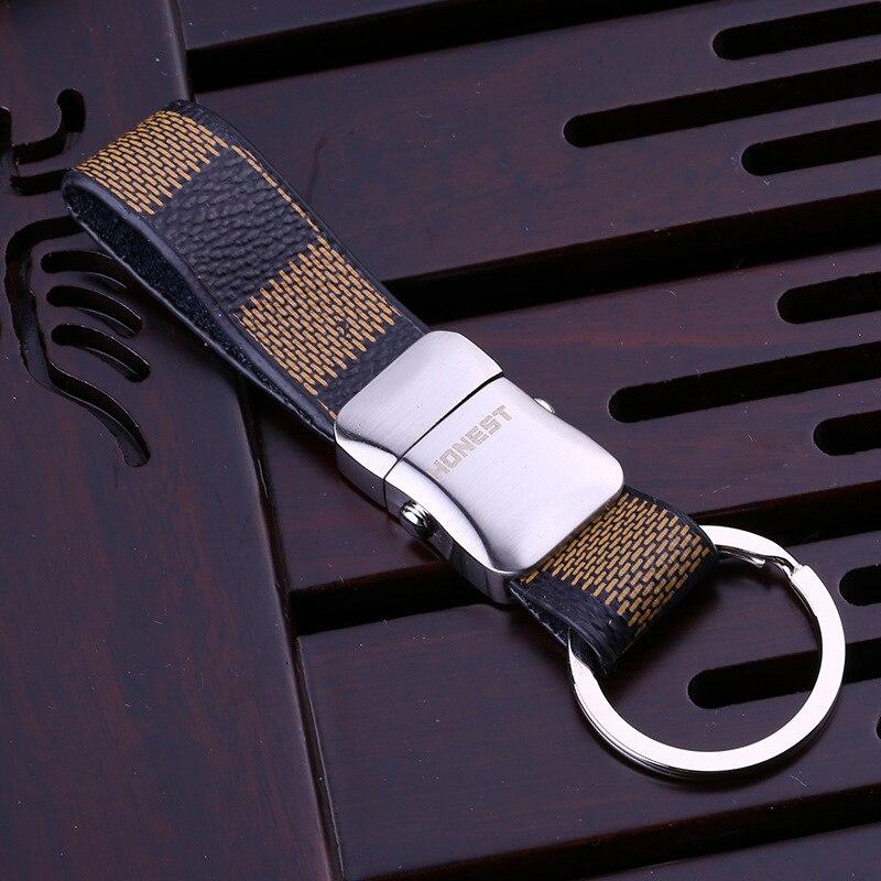 High Quality Brand Design Luxury Leather Keychain For Man Women Car