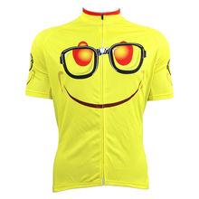 Alien SportsWear GEEK Pattern Men's top Sleeve Bike Clothes Yellow Quick Dry Cycling Jersey Size XS-5XL ILPALADIN