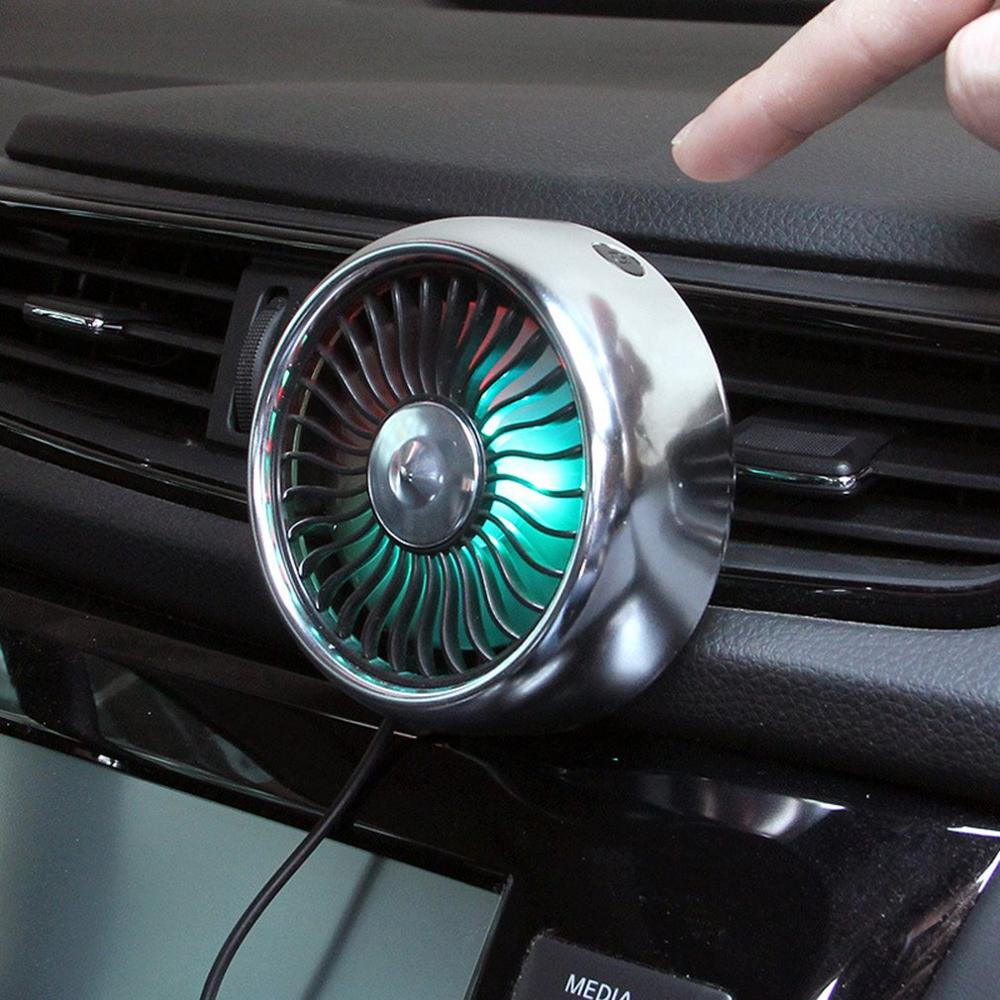 Car Supplies Car Multi-Function Fan Air Conditioning Wind Regulation Expansion Car Usb Air Outlet Center Console Decoration