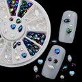 3 Шт. Блестящий Блеск Акриловые 3D Nail Art Прелести Горный Хрусталь Кристалл Для Ногтей Украшения Красоты Дизайн Nail Art Советы Декор инструмент
