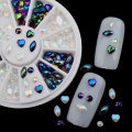 3Pcs Shiny Glitter Acrylic 3D Nail Art Charms Rhinestone Crystal For Nails Decorations Beauty Designs Nail Art Tips Decor Tool