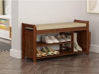 Натуральный Бамбук Стеллаж Для Хранения Обуви Скамья с 2 уровня подушки сиденья Гостиная органайзер для обуви лестничную мебель для прихож