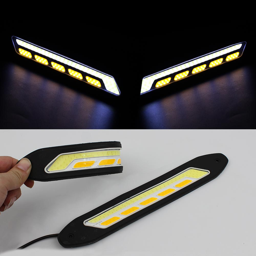 new led drl flexible daytime running light waterproof. Black Bedroom Furniture Sets. Home Design Ideas