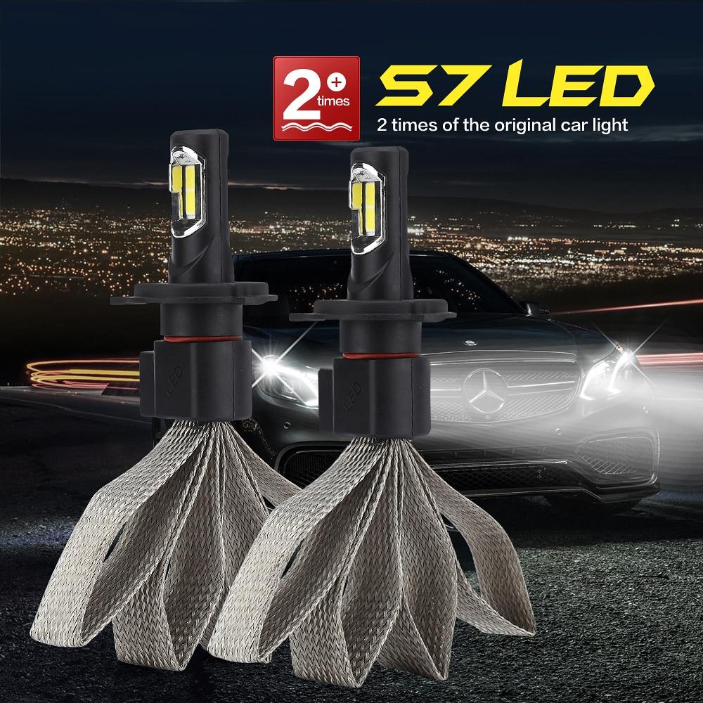 CROSS TIGER Car LED Headlight With Heat Radiation S7 8000LM Lamp Auto Bulb Lights H1 H3