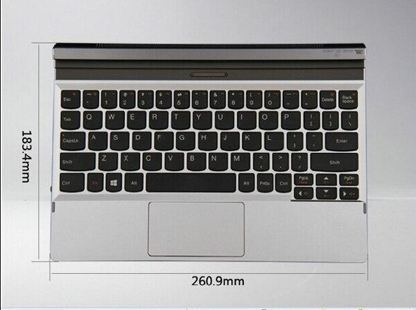 Съемный официальный съемный оригинальный металлический чехол подставка для клавиатуры и сенсорная панель для Lenovo Miix 2 10 Miix2 10,1 - 2