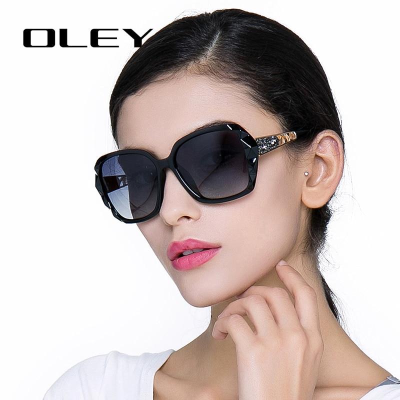 OLEY Oversized Sunglasses Oculos-De-Sol Elegant Women Luxury Brand Design Prismatic-Spectacles