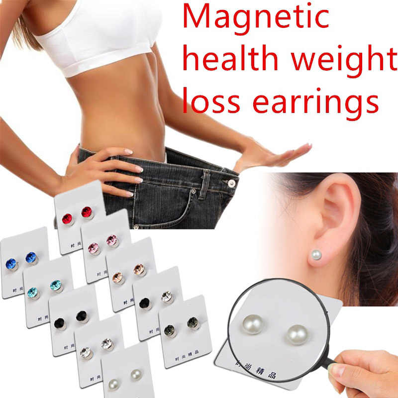 Menurunkan Berat Badan Magnetic Kesehatan Perhiasan Magnetik Slimming Anting-Anting Slimming Patch Magnet Malas Pasta Slim Patch