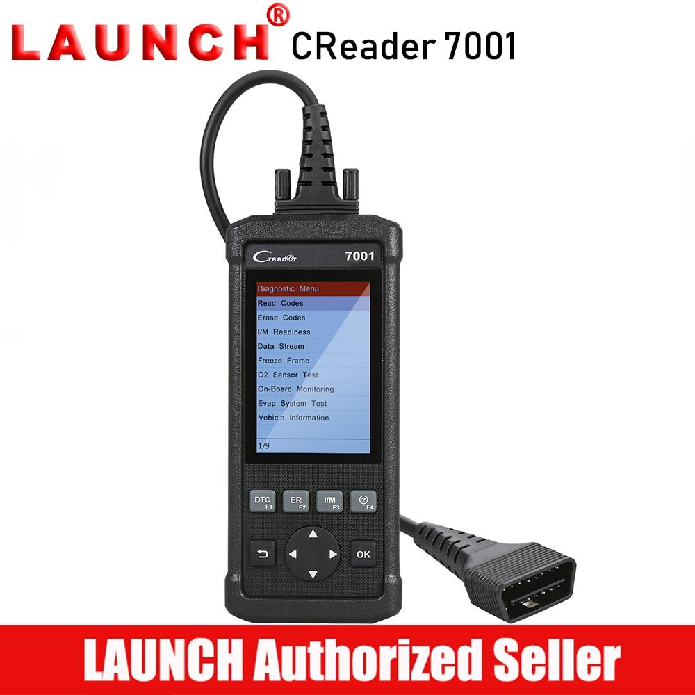LANCEMENT CReader 7001 OBD2/EOBD et PEUT Lecteur de Code Scanner Auto OBD 2 De Diagnostic outil d'analyse Portable Universel pour le Pétrole fonction de réinitialisation