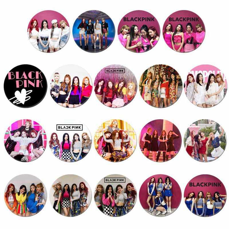 Korean KPOP BLACKPINK Album Brooch Pin Badge Accessories For Clothes Hat Backpack Decoration 19 Styles Brooches