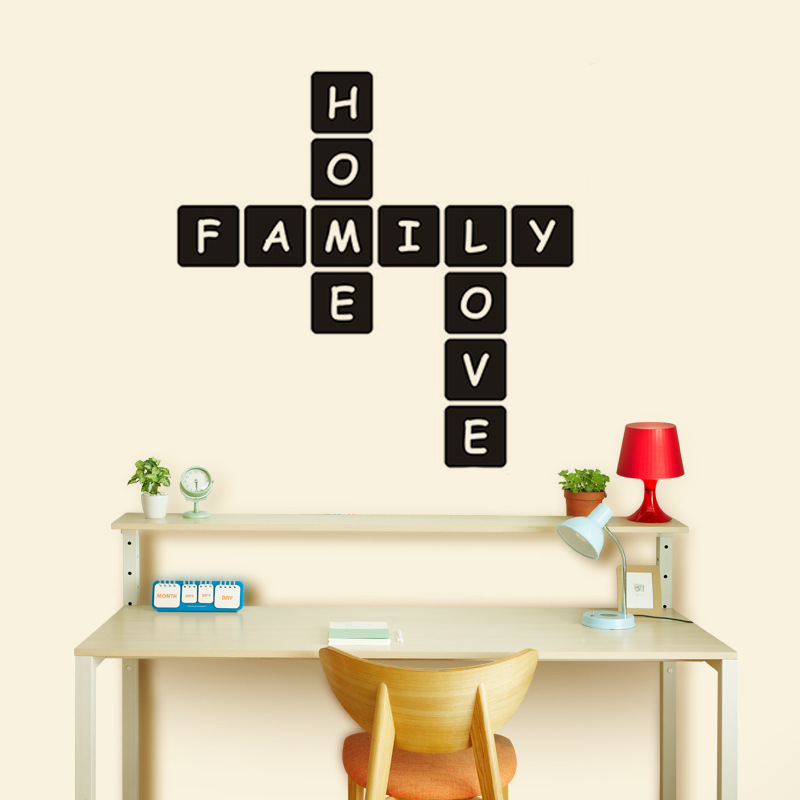 Modern Family Home Love Vinyl Wall Stickers For House Decoration Decals Mural Muursticker For Living Room Home Decor Wallpaper in Wall Stickers from Home Garden