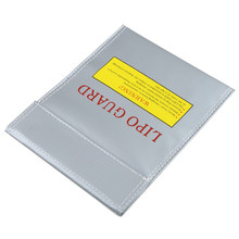 OUNONA 18*23cm RC LiPo Li-Po Battery Fireproof Safety Guard Charge Bag Sack Protective Storage Bag Pouch(China)