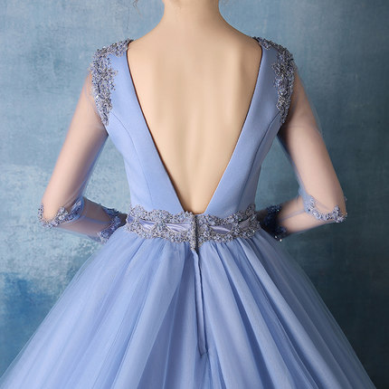 100% real luxury light blue lace beading veil deep V medieval dress Renaissance gown queen Victorian Belle Ball gown
