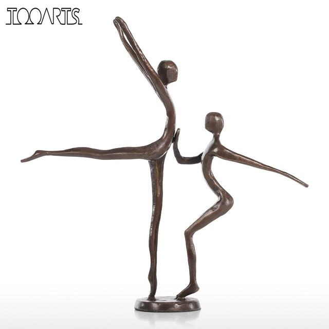 Tooarts Double Dance Statue Modern Bronze Sculpture Metal Statuette Home  Decor Art Gift Figurines Home Decoration