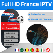 DATOO IPTV France Arabic Italy Box 1 Year Code HK1 MAX 4G+64G BT Dual-Band WIFI Italian Portugal Turkey