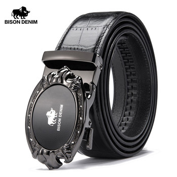 BISON DENIM Brand Mens Belts Luxury Cows...