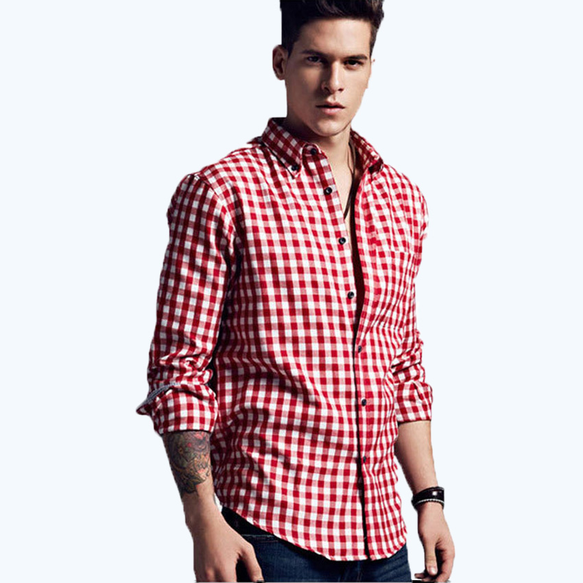 online get cheap dress shirt checkered