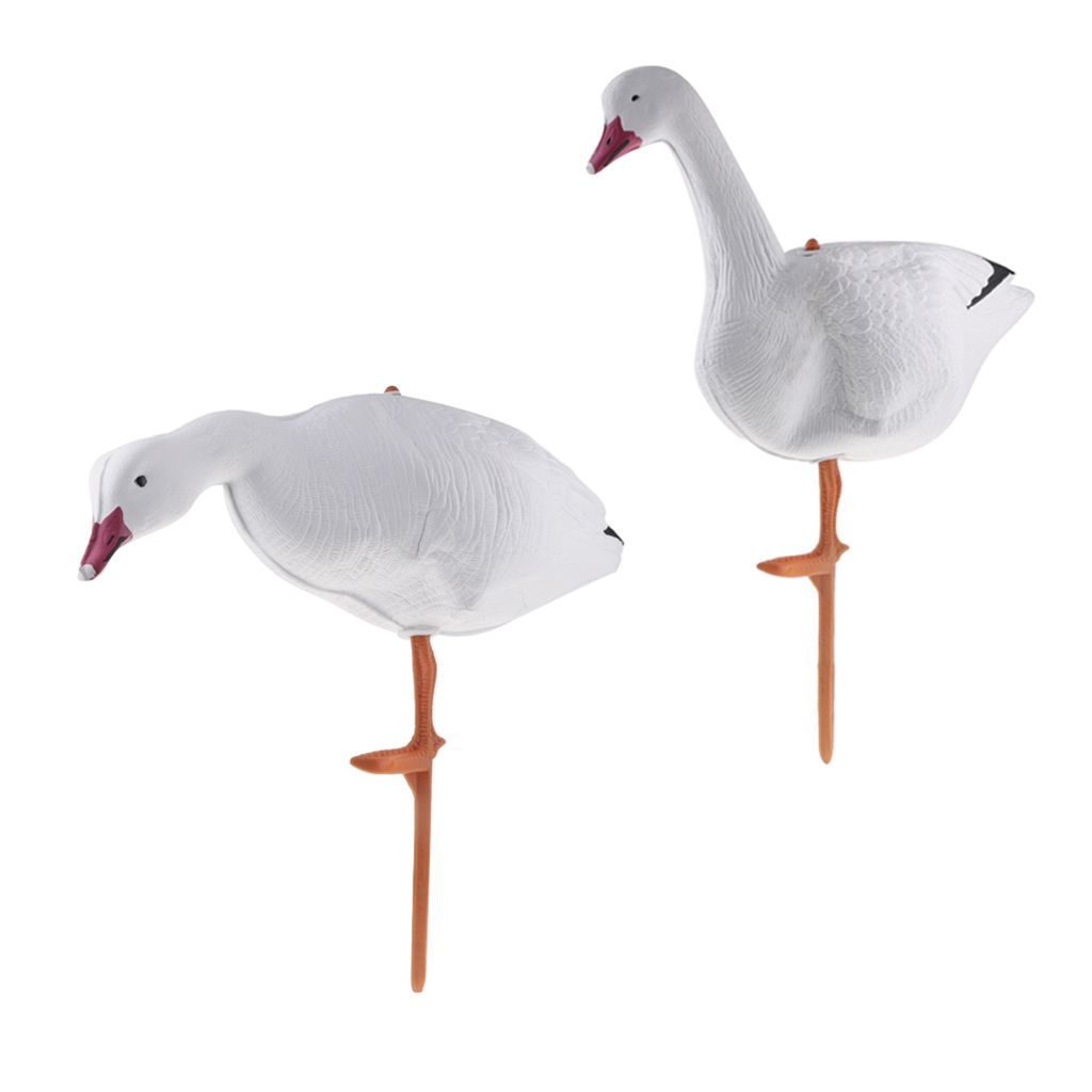 2pcs Full Body Goose Hunting Decoys  3DLifelike Goose Swan Decoys Yard Decor For Outdoor Hunting Training Accessories Durable