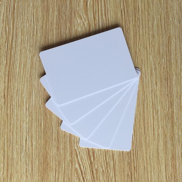 200 Blank Druckbare PVC Kunststoff Foto id Weiß Kreditkarte 30Mil CR80 freies verschiffen