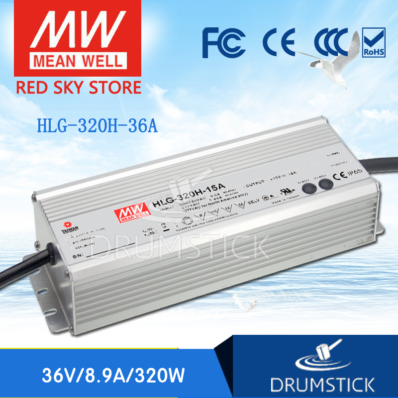 Selling Hot MEAN WELL HLG-320H-36A 36V 8.9A meanwell HLG-320H 36V 320.4W Single Output LED Driver Power Supply A type genuine mean well hlg 320h 36b 36v 8 9a hlg 320h 36v 320 4w single output led driver power supply b type