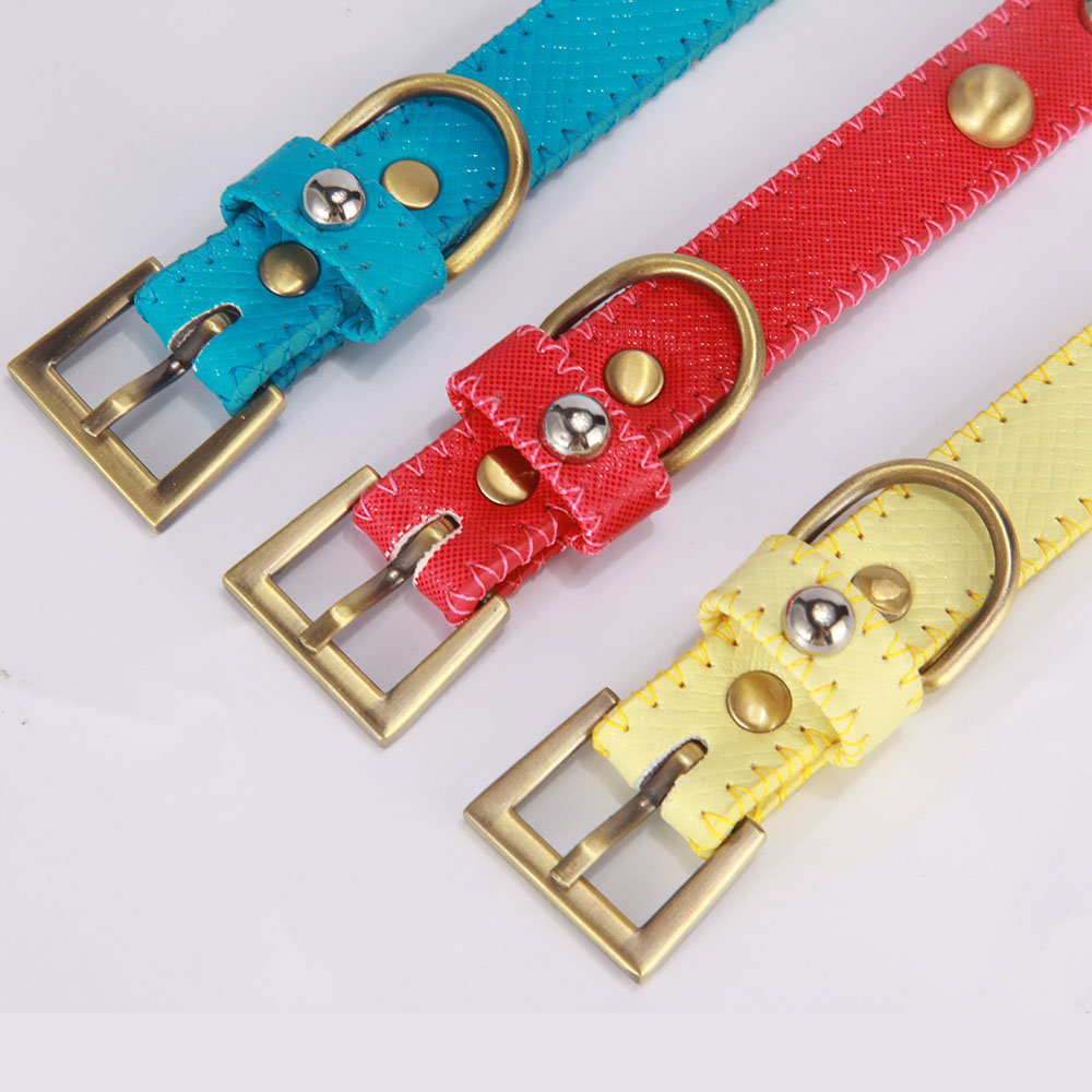 Dog Training Collar Leather Pet accessories for Dogs and Cats Dogs Collars with Beads All Season Pet Products Chihuahua YS0026